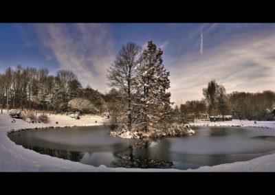 Panorama de l'etang en hiver