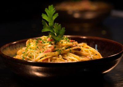 Spaghetti carbonara de l' étang.